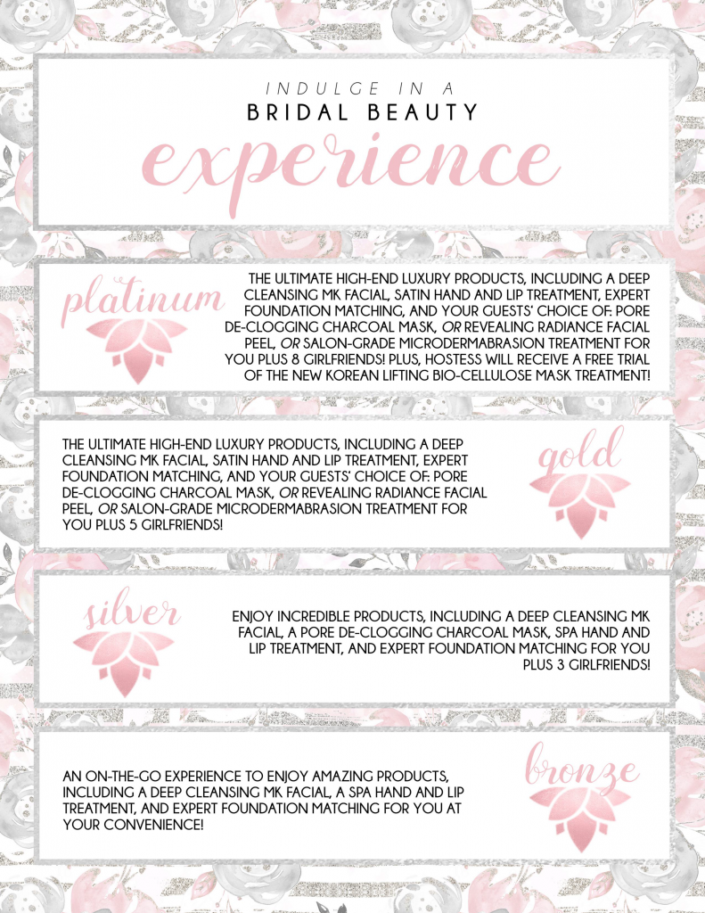 Beauty Experience Bridal Skin Care Packages