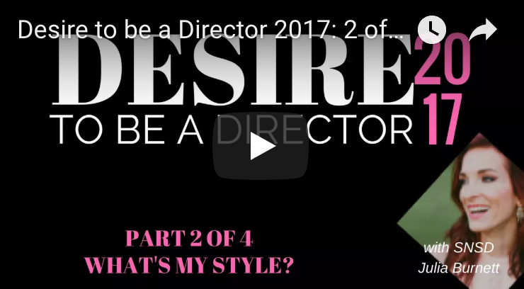 Desire to be a Director Part 2 - What\'s My Type? (DISC)