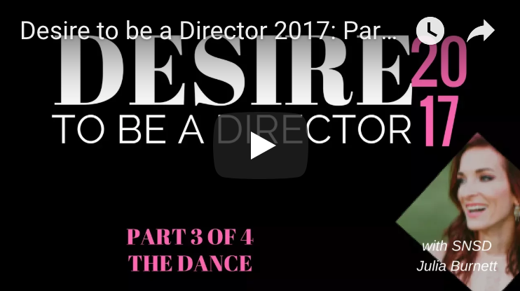 Desire to be a Director Part 3 - The Dance (Career Chats)