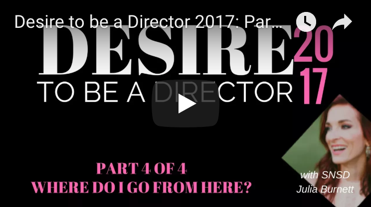 Desire to be a Director Part 4 - Where Do We Go from Here?