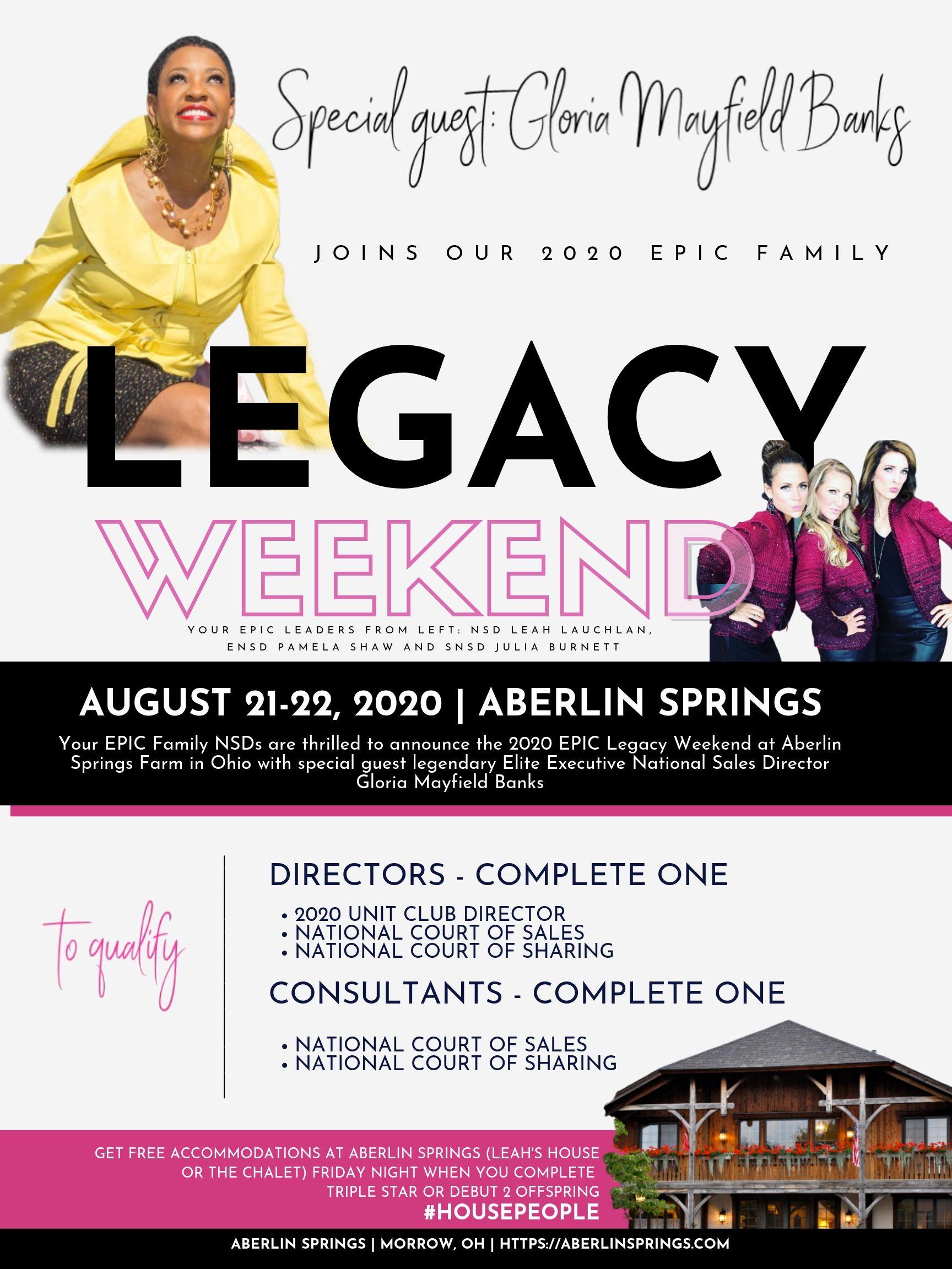 LL epic legacy weekend revised 828194